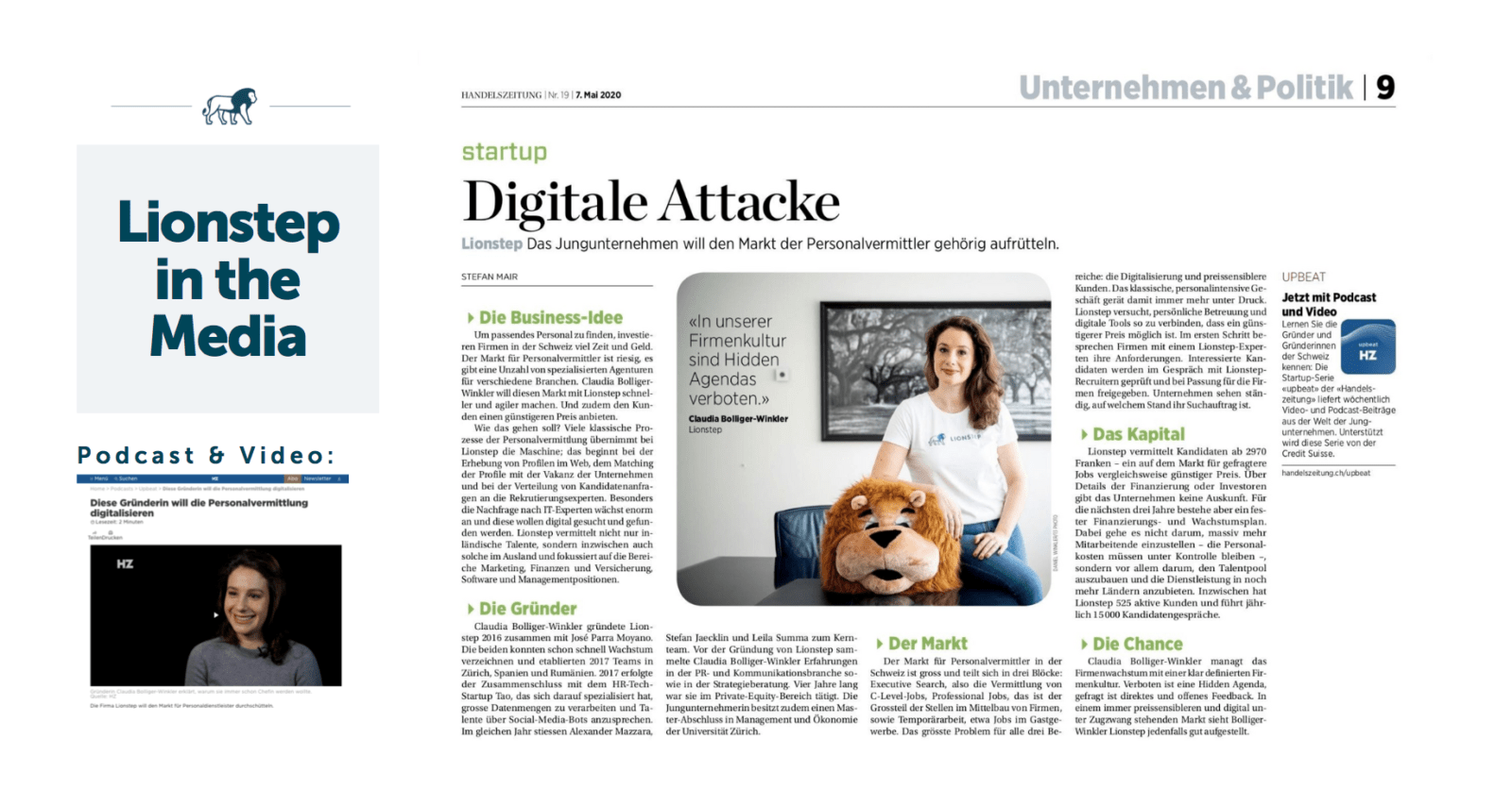 Lionstep in the media